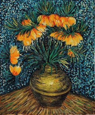 "8: ""Crown Imperial Fritillaries in a Copper Vase"""