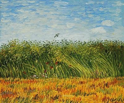 "9: ""Edge of a Wheat Field with Poppies and a Lark"""