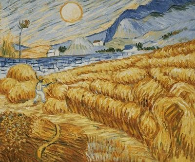 "12: ""Enclosed Field with Reaper at Sunrise"" Van Gogh"