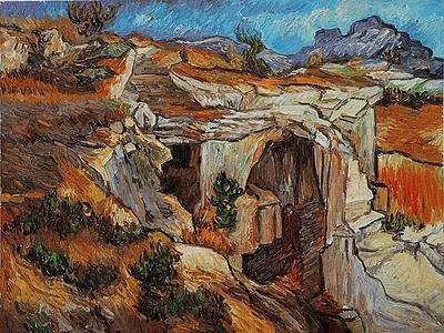 "13: ""Entrance to a Quarry near St. Remy"" Van Gogh"