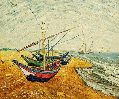 "16: ""Fishing Boats on the Beach at Saintes-Maries"""
