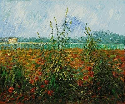 "18: Signed Ltd Ed Oil ""Green Ears of Wheat II"" Van Gogh"