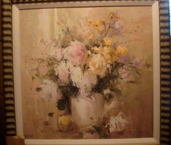 "3: Michael Schofield ""Floral II"" Sgnd Ltd Ed Giclee"