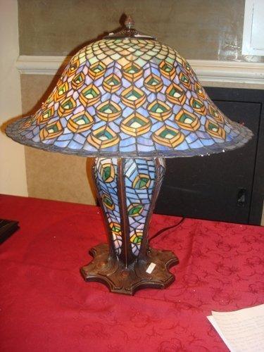 24: Tiffany Style Peacock Lamp