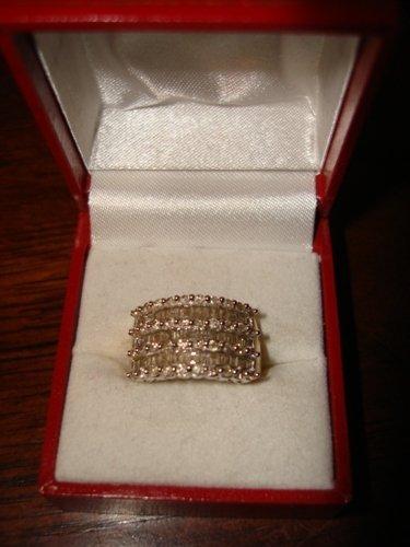 78: Ladies 10K Yellow Gold Diamond Ring