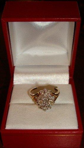 230: Ladies 10K Yellow Gold Diamond Ring