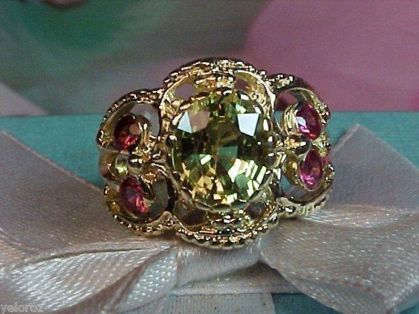 404: 14K Yellow Gold Alexandrite & Sapphire Ring