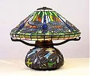 1: Attributed to Tiffany Dragonfly Mosaic Lamp
