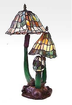 4: Attributed to Tiffany Three Mushroom Lamp