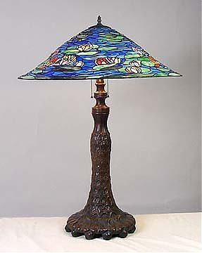 9: Attributed to Tiffany Pond Lily Lamp
