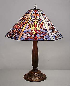 10: Attributed to Tiffany Baroque Lamp