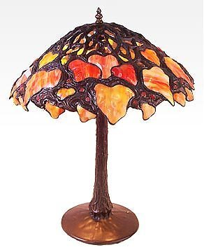 11: Attributed to Tiffany Maple Leaf Lamp