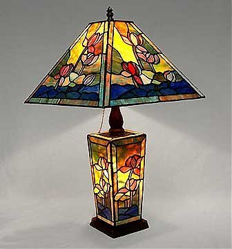 12: Attributed to Tiffany Lily Pond Lamp