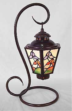 14: Attributed to Tiffany Paneled Lamp