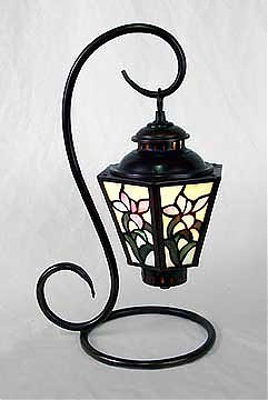 15: Attributed to Tiffany Floral Lantern