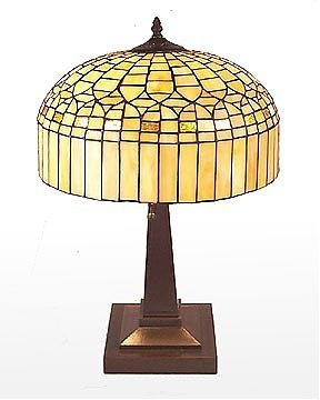 16: Attributed to Tiffany Golden Lamp