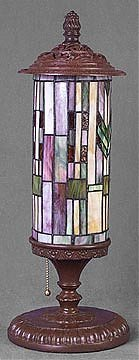 17: Attributed to Tiffany Cylindrical Lamp