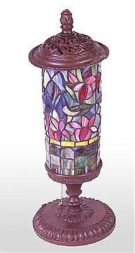 18: Attributed to Tiffany Floral Cylindrical Lamp