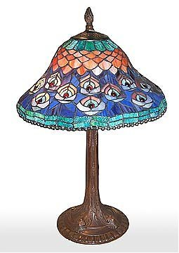 20: Attributed to Tiffany Peacock Table Lamp