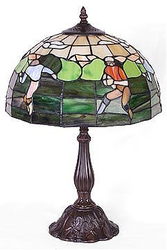 21: Attributed to Tiffany Rugby Lamp