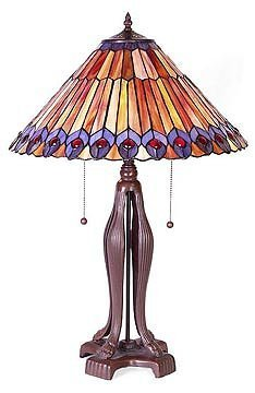 23: Attributed to Tiffany Art Deco Lamp