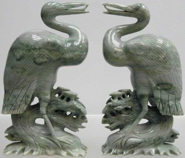 120: Pair of Jade Cranes