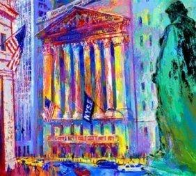 """415: ORIGINAL Serigraph """"NY Stock Exchange"""" Neiman"""