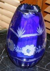 12:Blue Flow Crystal Vase