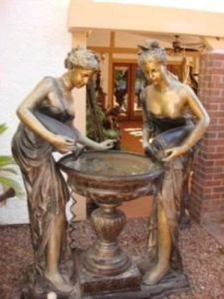 332: Bronze Sisters Fountain by Moreau