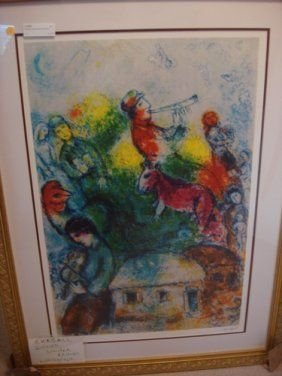 16: Signed Limited Edition Chagall Lithograph