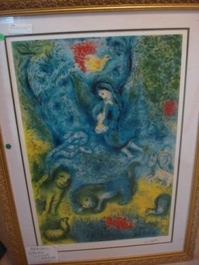 22: Signed Limited Edition Chagall Lithograph