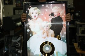 3: Marilyn Hollogram with Gold Record