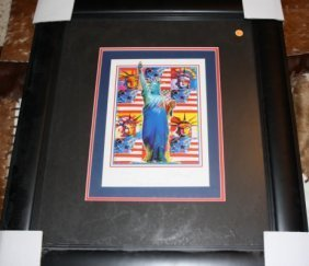 17: Hand Signed #'d Peter Max Serigraph