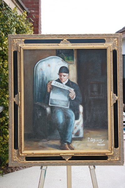 5: Cezanne - Artists Father Reading 20x24