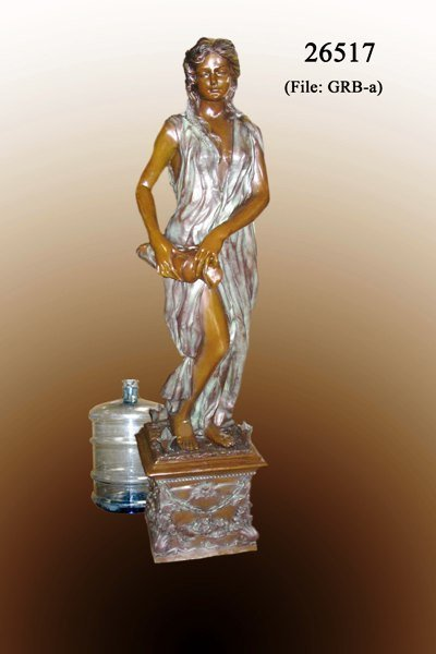 64: Bronze Lady with Jug Fountain
