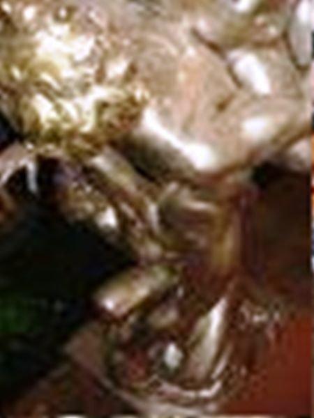 336: ORIGINAL Silver, Gold & Platinum Patina Bronze Scu - 3