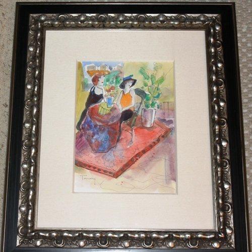 1D: Original Tarkay Watercolor