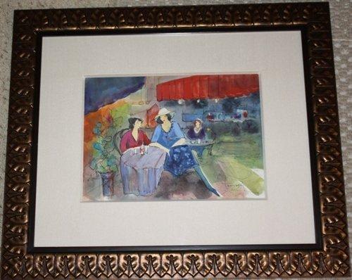 2D: Original Tarkay Watercolor