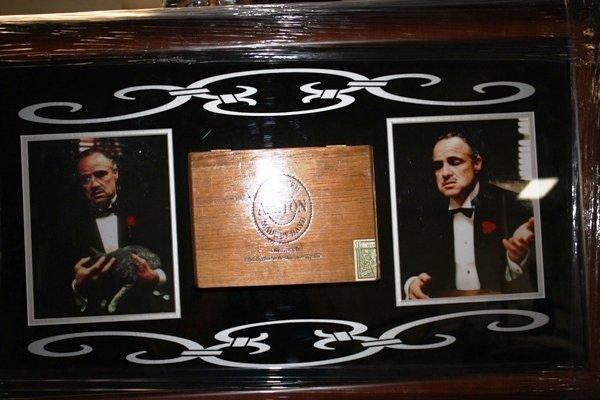 1: Framed Godfather Collage Cigar Box