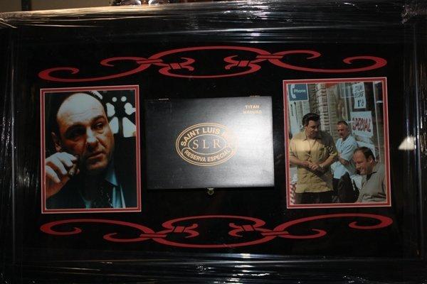 2: Framed Sopranos Collage Cigar Box