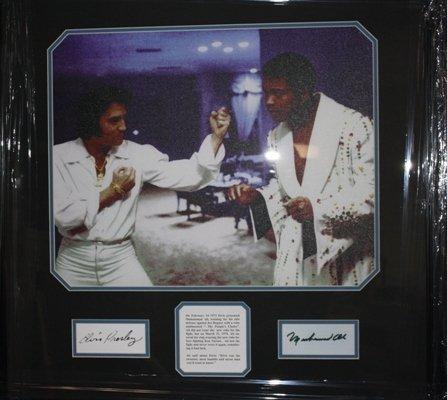 4: Framed Autographed Elvis Presley and Muhammad Ali Co