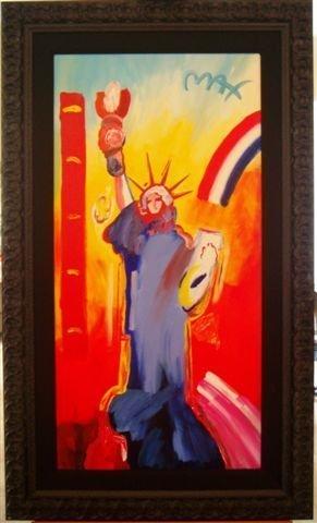 296: ORIGINAL Acrylic on Canvas Peter Max Liberty