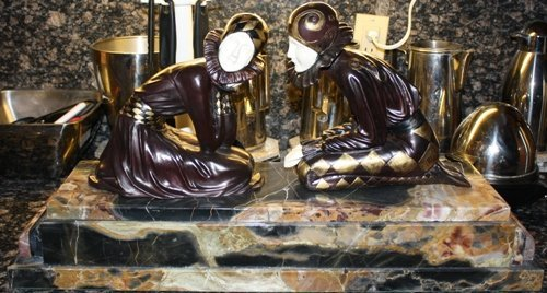 4B: Signed Bronze & Ivory Tender Promises Chiparus