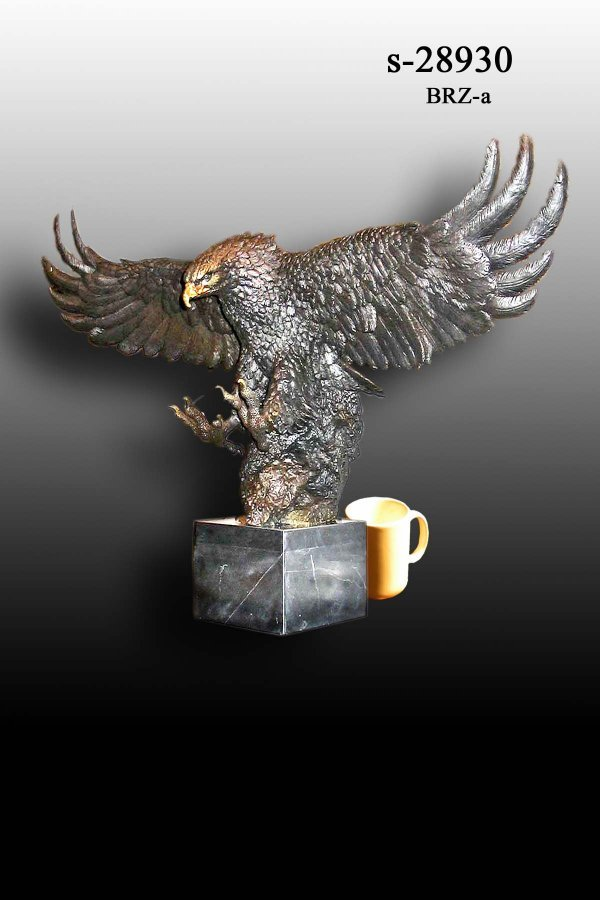 49: Bayre - Bronze Eagle on Marble Base