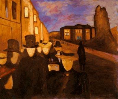 59A: Munch - Evening on Karl Johan