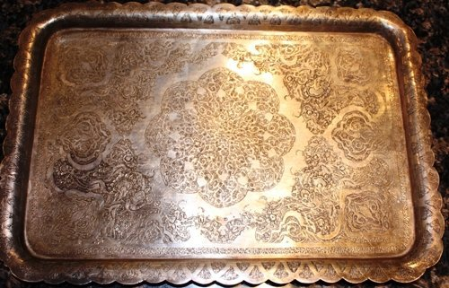 2B: Hammered Custom Silver Tray