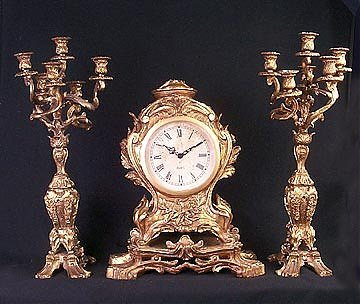 1F: Clock and Candleabra Set