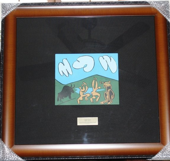 50D: Original PIcasso Linocut Baccanal with Black Bull