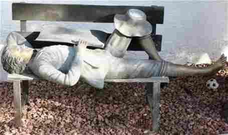 9: Beautiful Bronze Tom Sawyer on Bench