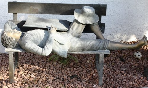9: Beautiful Bronze Tom Sawyer on Bench